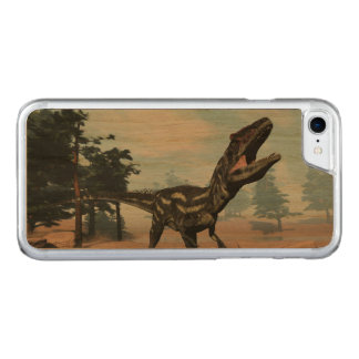 Capa iPhone 8/ 7 Carved Dinossauro do Allosaurus que ruje - 3D rendem