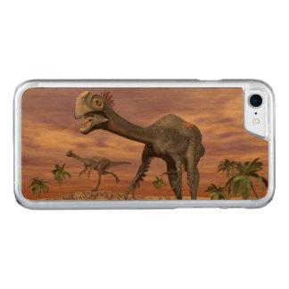 Capa iPhone 8/ 7 Carved Dinossauros de Gigantoraptor no deserto - 3D
