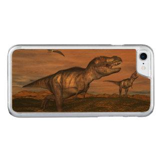 Capa iPhone 8/ 7 Carved Dinossauros do rex do tiranossauro - 3D rendem