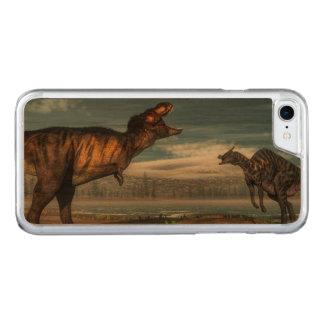 Capa iPhone 8/ 7 Carved Dinossauros do rex e do saurolophus do