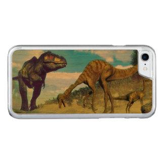 Capa iPhone 8/ 7 Carved Dinossauros surprising do gallimimus do rex do