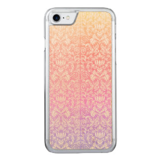 Capa iPhone 8/ 7 Carved Doces doces Kawaii de Lolita do damasco Pastel
