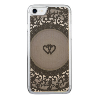 Capa iPhone 8/ 7 Carved Dois corações enegrecem o olhar do Sequin