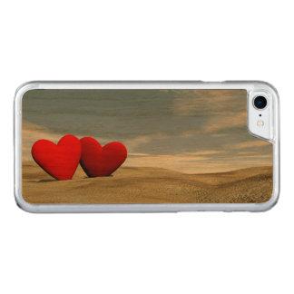 Capa iPhone 8/ 7 Carved Dois corações na praia - 3D rendem