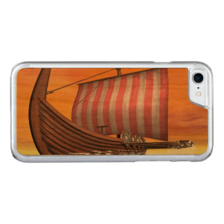 Capa iPhone 8/ 7 Carved Drakkar ou navio de viquingue - 3D rendem