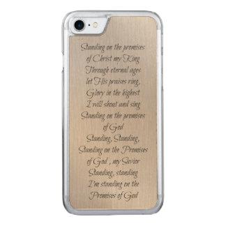 Capa iPhone 8/ 7 Carved Estar nas promessas do deus