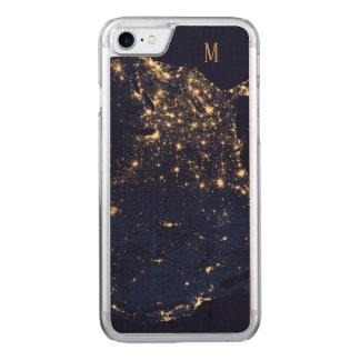 Capa iPhone 8/ 7 Carved Estilo bonito Sparkling da forma dos começos do