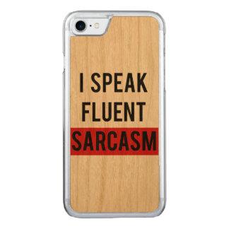 Capa iPhone 8/ 7 Carved Eu falo o sarcasmo fluente