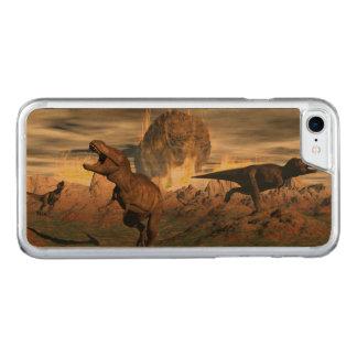 Capa iPhone 8/ 7 Carved Exctinction do dinossauro do tiranossauro - 3D