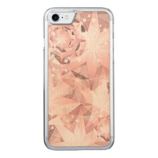 Capa iPhone 8/ 7 Carved Faísca cor-de-rosa do diamante em brilhante Pastel