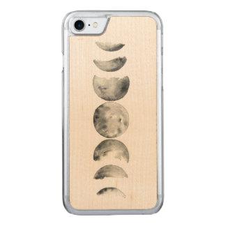 Capa iPhone 8/ 7 Carved Fases da aguarela da lua