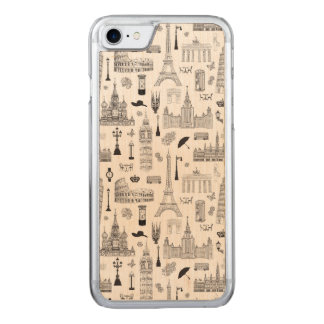 Capa iPhone 8/ 7 Carved Férias no teste padrão de Europa