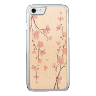 Capa iPhone 8/ 7 Carved Flor de cerejeira - azul da serenidade