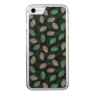Capa iPhone 8/ 7 Carved Folhas de palmeira verdes e brancas