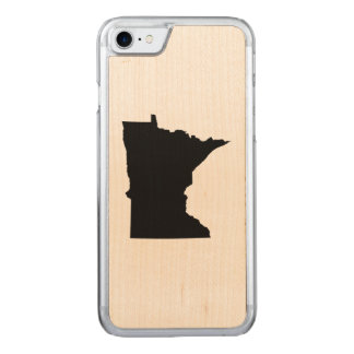 Capa iPhone 8/ 7 Carved Forma preta do mapa de Minnesota