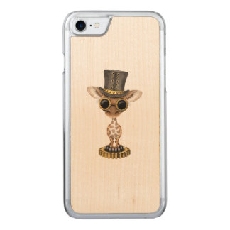 Capa iPhone 8/ 7 Carved Girafa bonito do bebê de Steampunk