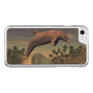 Capa iPhone 8/ 7 Carved Golfinho nos trópicos - 3D rendem