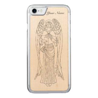 Capa iPhone 8/ 7 Carved Gracioso, Eleborately decorou o design do anjo da