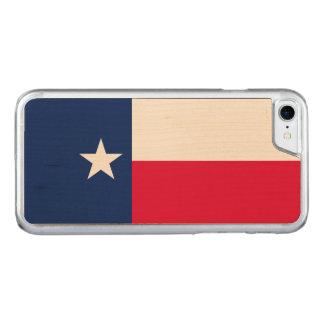 Capa iPhone 8/ 7 Carved Gráfico dinâmico da bandeira do estado de Texas em