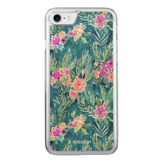 Capa iPhone 8/ 7 Carved Hibiscus havaiano do PARAÍSO TROPICAL do MARINHO