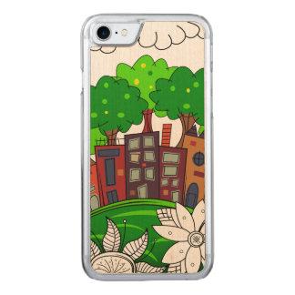 Capa iPhone 8/ 7 Carved Ilustração colorida da arquitectura da cidade