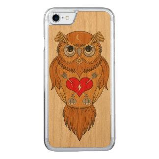 Capa iPhone 8/ 7 Carved Ilustração colorida da coruja