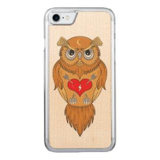 Capa iPhone 8/ 7 Carved Ilustração da coruja