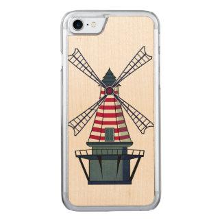 Capa iPhone 8/ 7 Carved Ilustração do moinho de vento