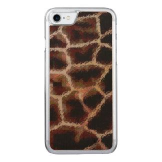 Capa iPhone 8/ 7 Carved Impressão animal Brown