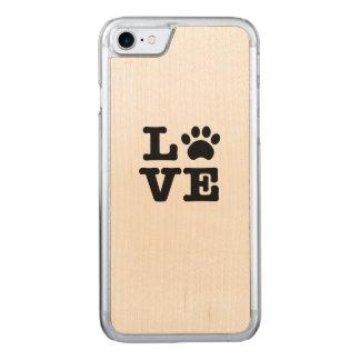 Capa iPhone 8/ 7 Carved Impressão da pata do amor