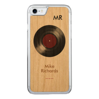 Capa iPhone 8/ 7 Carved iPhone 6 com registro de vinil na madeira