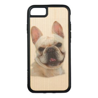 Capa iPhone 8/ 7 Carved iPhone do buldogue francês 7/8 de caso
