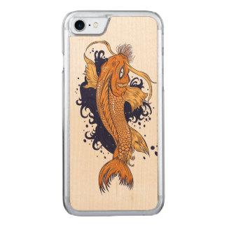 Capa iPhone 8/ 7 Carved Japonês colorido Koi