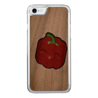 Capa iPhone 8/ 7 Carved Kawaii e pimenta vermelha engraçada