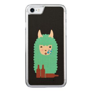 Capa iPhone 8/ 7 Carved Lama bêbedo Emoji
