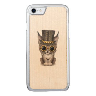 Capa iPhone 8/ 7 Carved Lince bonito Cub do bebê de Steampunk