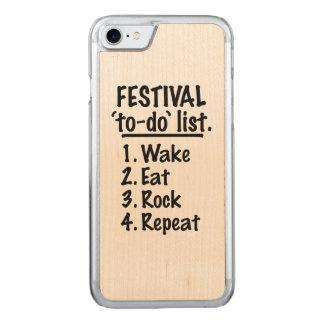Capa iPhone 8/ 7 Carved Lista do tumulto do ` do festival' (preto)
