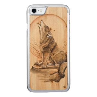 Capa iPhone 8/ 7 Carved Lobo do urro no iPhone de madeira 6 do bordo