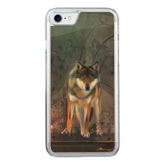 Capa iPhone 8/ 7 Carved Lobo impressionante no fundo do vintage