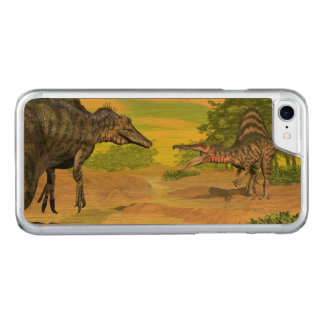 Capa iPhone 8/ 7 Carved Luta dos dinossauros de Spinosaurus - 3D rendem