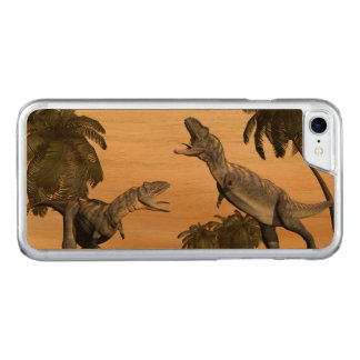 Capa iPhone 8/ 7 Carved Luta dos dinossauros do Aucasaurus - 3D rendem