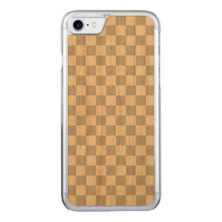 Capa iPhone 8/ 7 Carved Luz - tabuleiro de damas cinzento