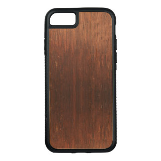 Capa iPhone 8/ 7 Carved Madeira de Brown escuro sobre