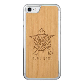 Capa iPhone 8/ 7 Carved madeira do caso do iPhone 7 e tartaruga do origami
