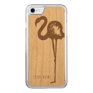 Capa iPhone 8/ 7 Carved madeira e flamingo do caso do iPhone 7