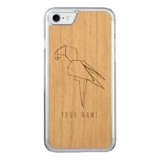 Capa iPhone 8/ 7 Carved madeira e papagaio do caso do iPhone 7