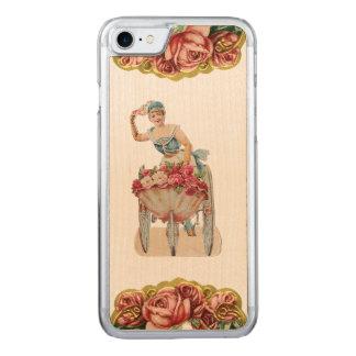 Capa iPhone 8/ 7 Carved Madeira magro cor-de-rosa do iPhone 5/5S do