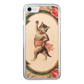 Capa iPhone 8/ 7 Carved Madeira magro REBELDE RETRO do iPhone 5/5S da