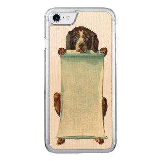 Capa iPhone 8/ 7 Carved Madeira magro REBELDE RETRO do iPhone 5/5S do cão