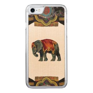 Capa iPhone 8/ 7 Carved Madeira REBELDE RETRO do elefante do circo